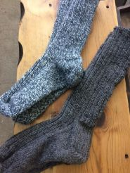 Hand knit wool boot socks