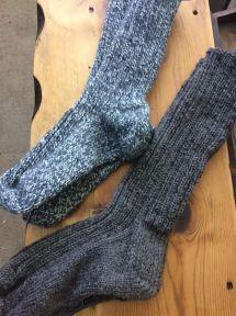 Hand knit wool boot socks