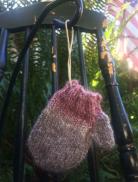 Pink Tones Mitten Ornament