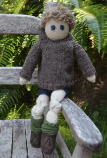 Little Friend Patrick - Hand Knit Doll